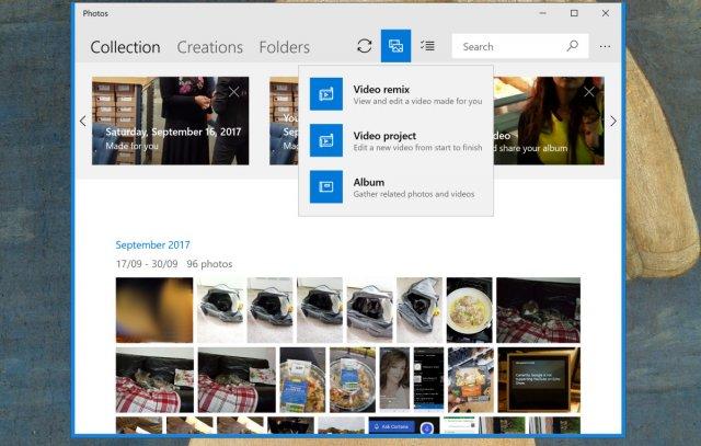 Microsoft тестирует новые функции и анимации для приложения «Фотографии»