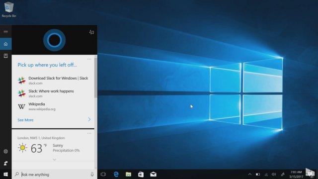 Cortana теперь будет находиться в Центр уведомлений