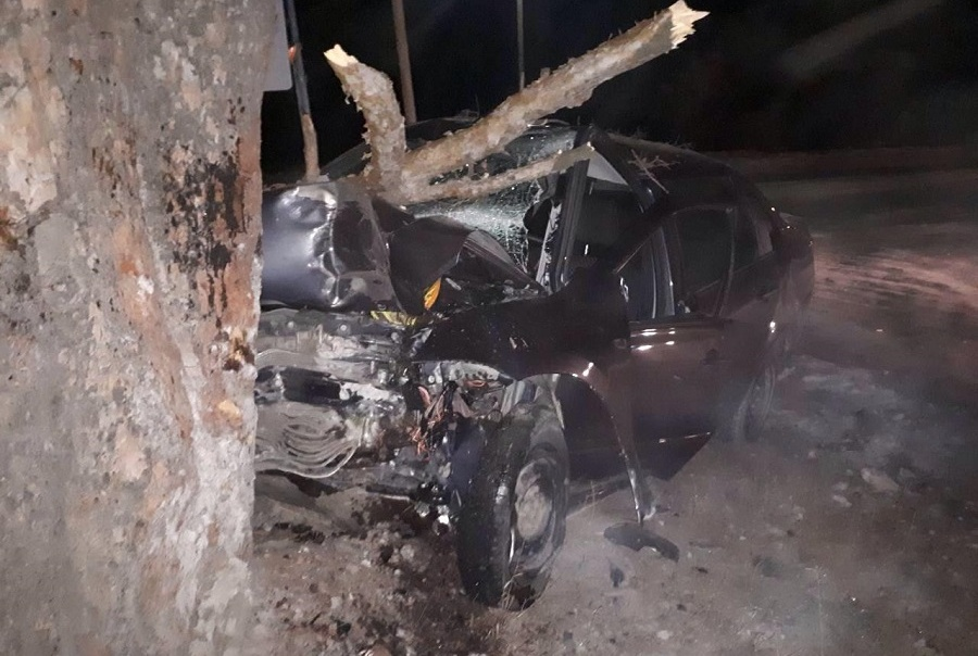 В Кетовском районе водитель врезался в дерево