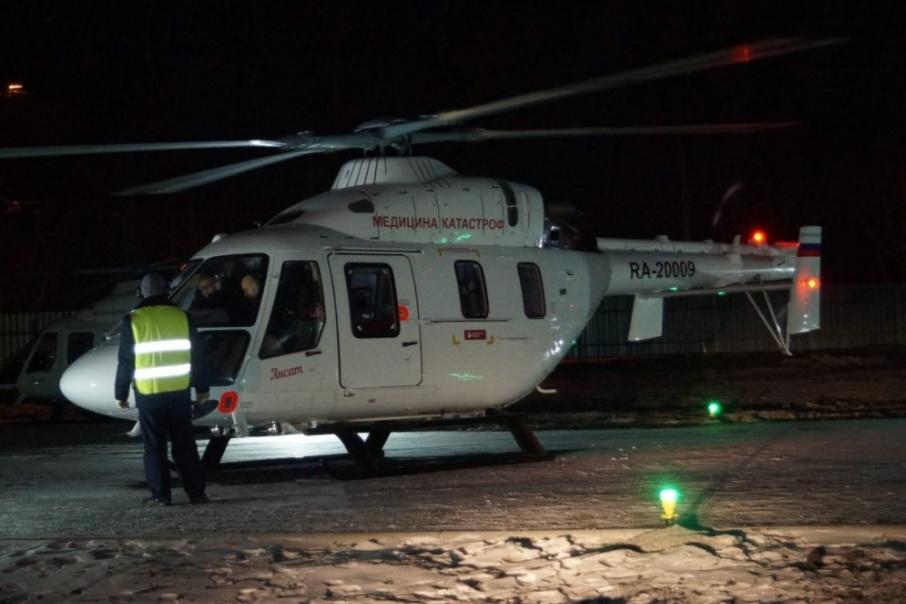 Очень скорая помощь: в Зауралье презентовали медицинский вертолетный центр