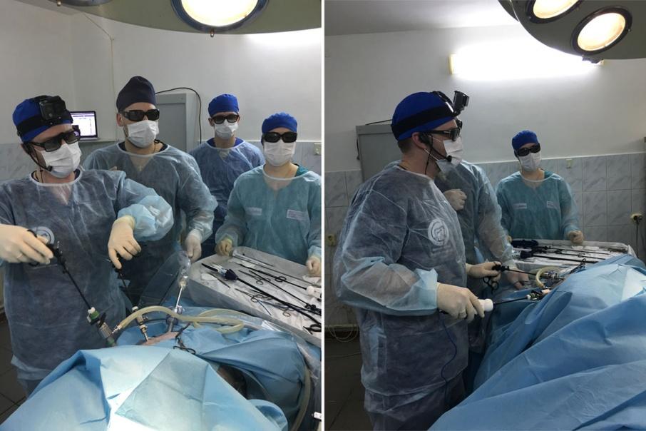 В Кургане провели 3D-операцию на желудке собаки в прямом эфире