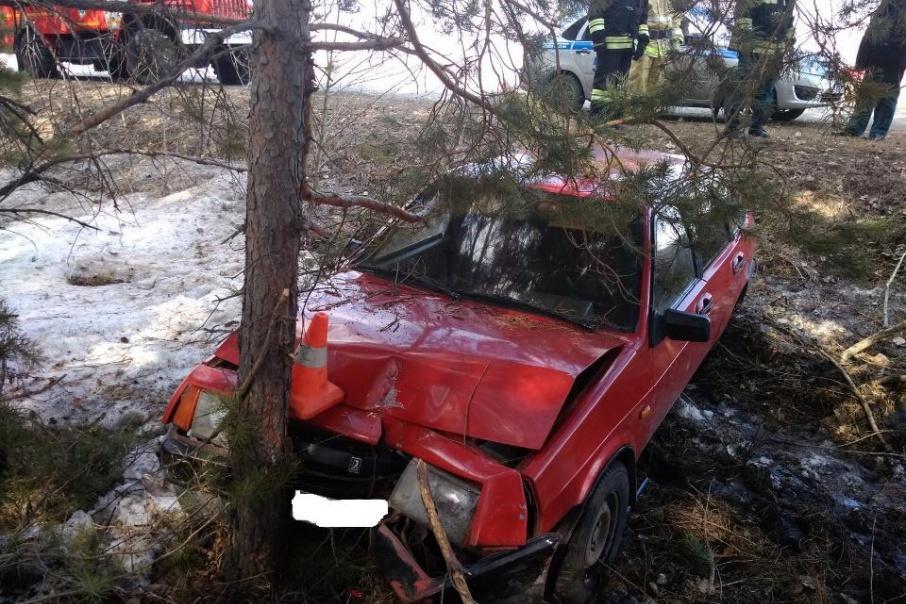 В Зауралье водитель врезался в дерево