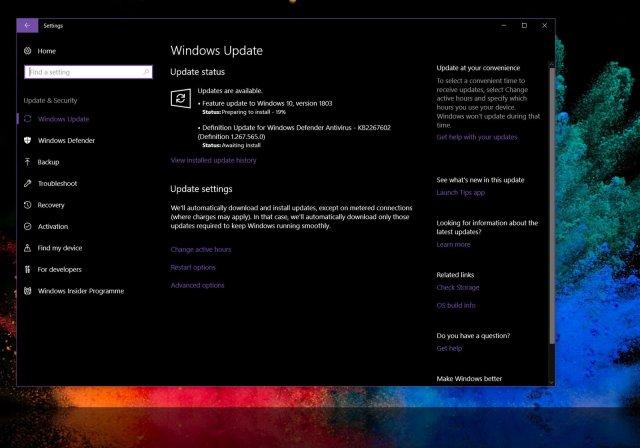 Microsoft начинает распространение Windows 10 April Update