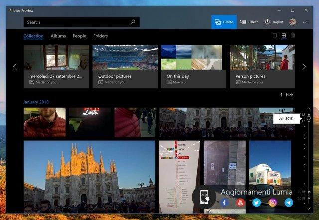 Timeline доступен для всех пользователей приложения «Фотографии»