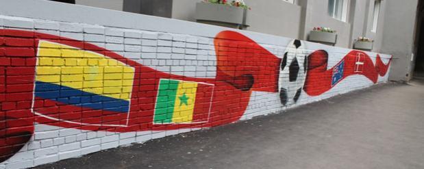 В Самаре появились футбольные граффити