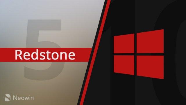 Windows 10 Redstone 5 получит версию 1809