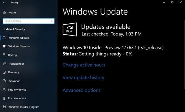 25 сентября ожидается подписание Windows 10 Redstone 5 Build 17763 (RTM)