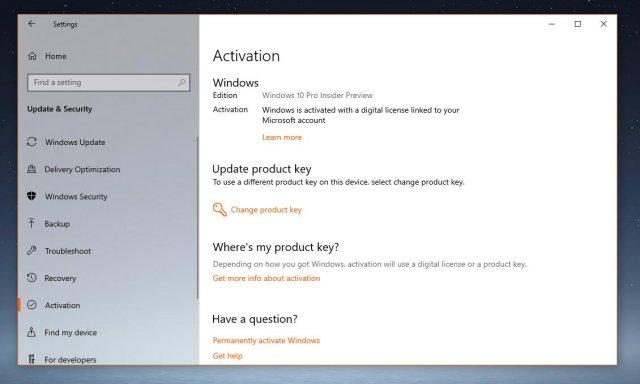 Windows 10 1809 сбрасывает активацию и ключ продукта перестаёт работать