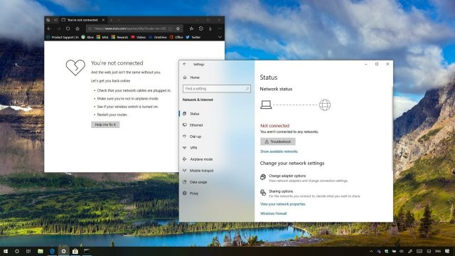 Как восстановить доступ в Интернет после установки Windows 10 October 2018 Update