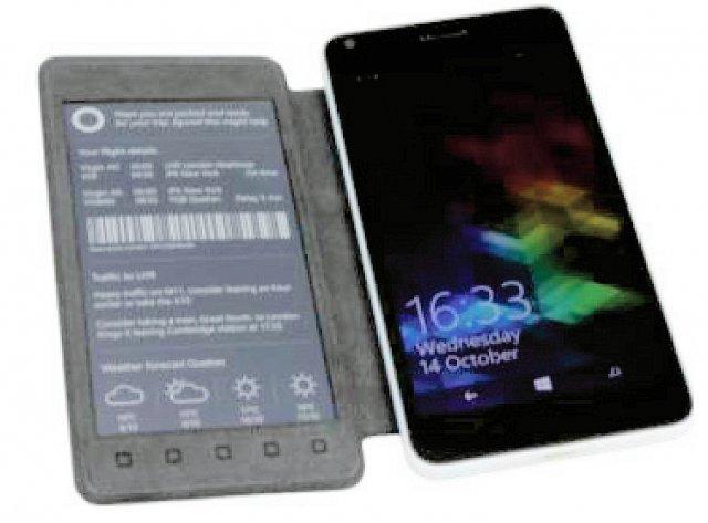 Microsoft Research продемонстрировала Lumia 640 с дисплеем-обложкой