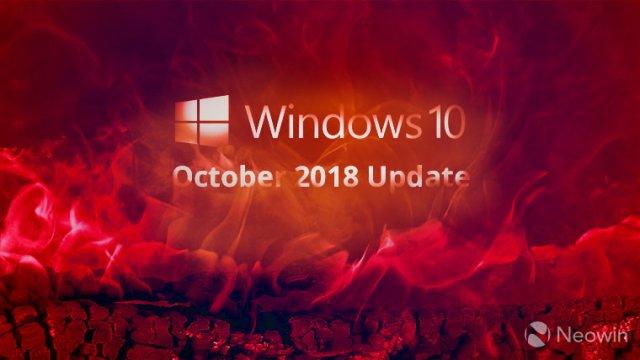 Новые проблемы с Windows 10 October 2018 Update