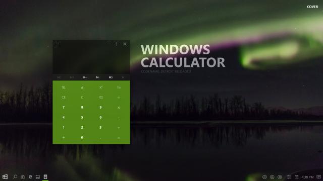 Концепт нового Калькулятора в Windows 10